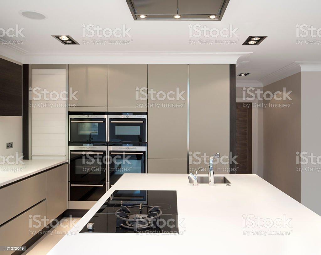 luxury modern kitchen stock photo