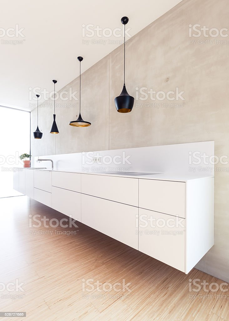 Luxury modern Kitchen stock photo
