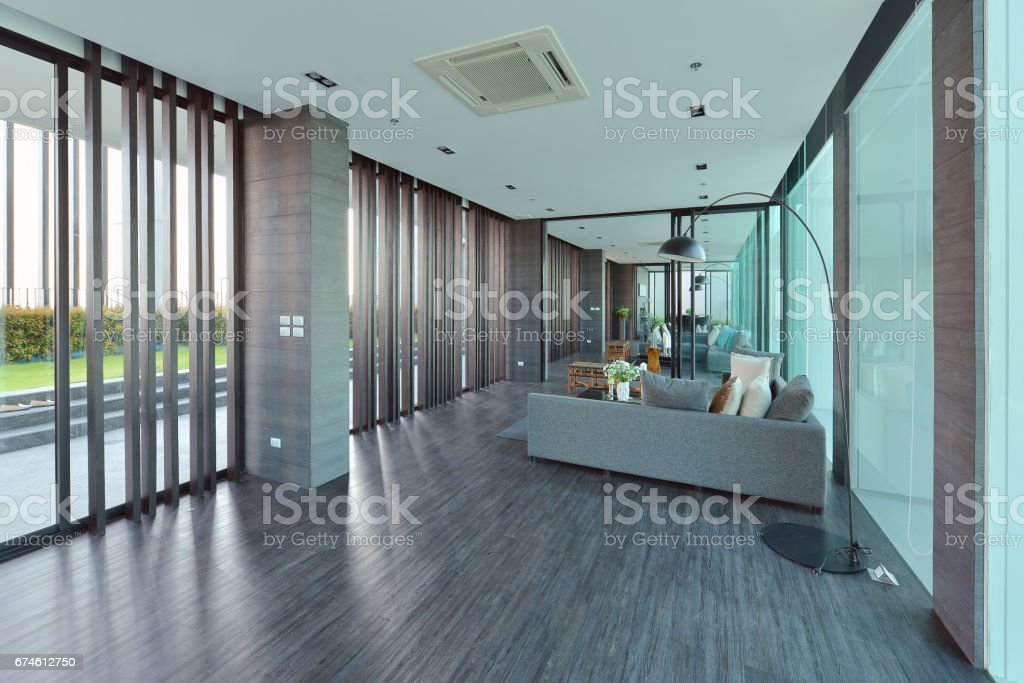 luxury modern living room interior and decoration, interior design stock photo