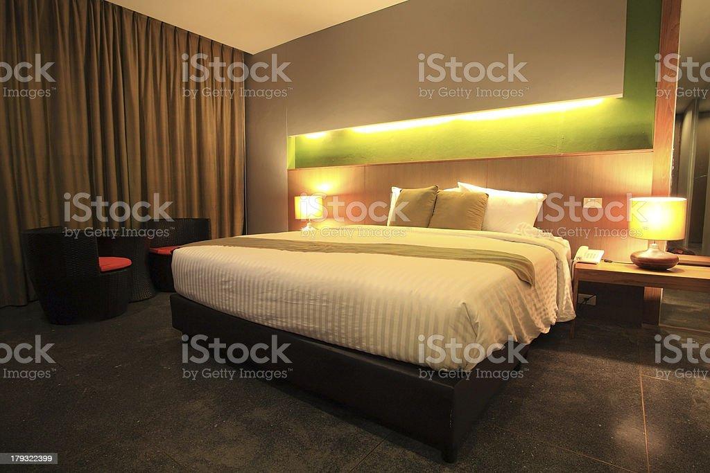Luxury modern master bedroom royalty-free stock photo