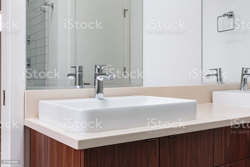 Luxury modern sink stock photo