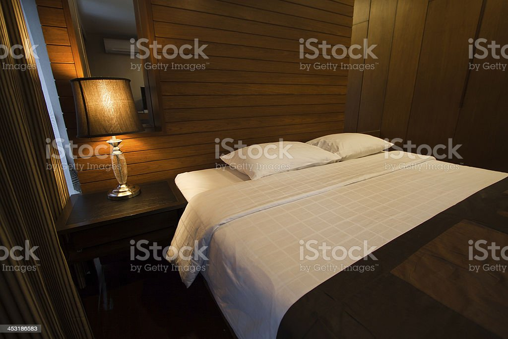 luxury modern style bedroom, relax place royalty-free stock photo