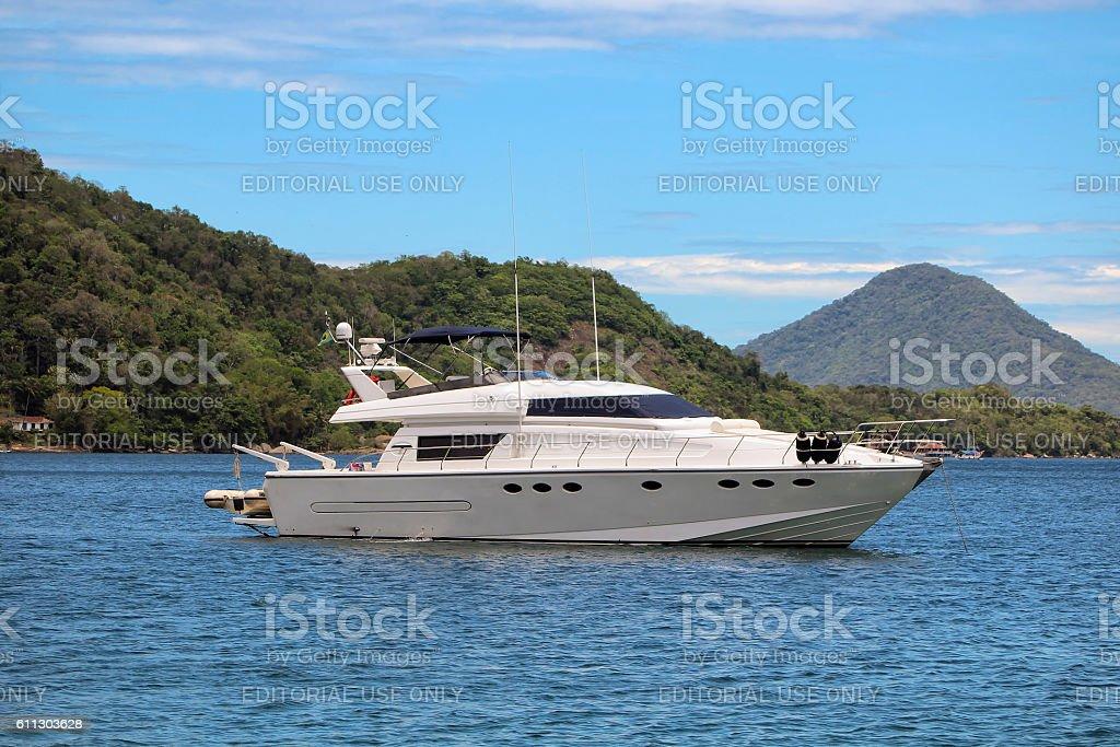 Luxury Motor Boat stock photo