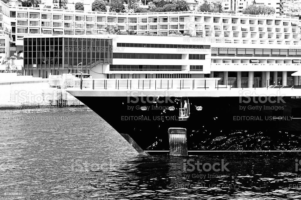 Luxury motor yacht Monaco stock photo