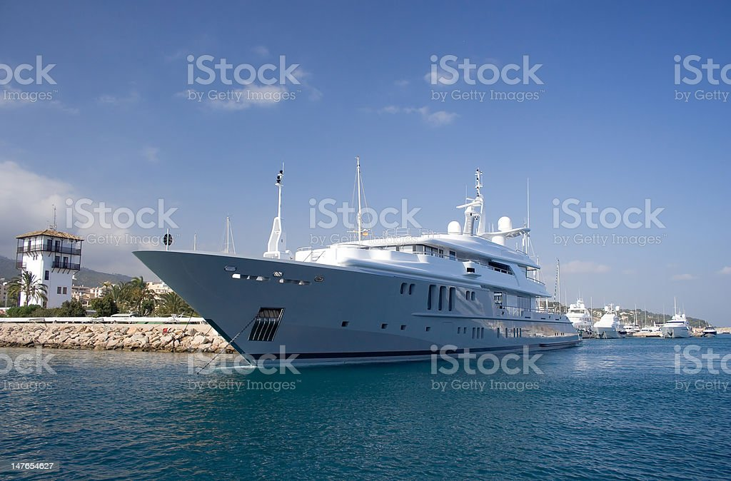 Luxury Motor Yacht. royalty-free stock photo
