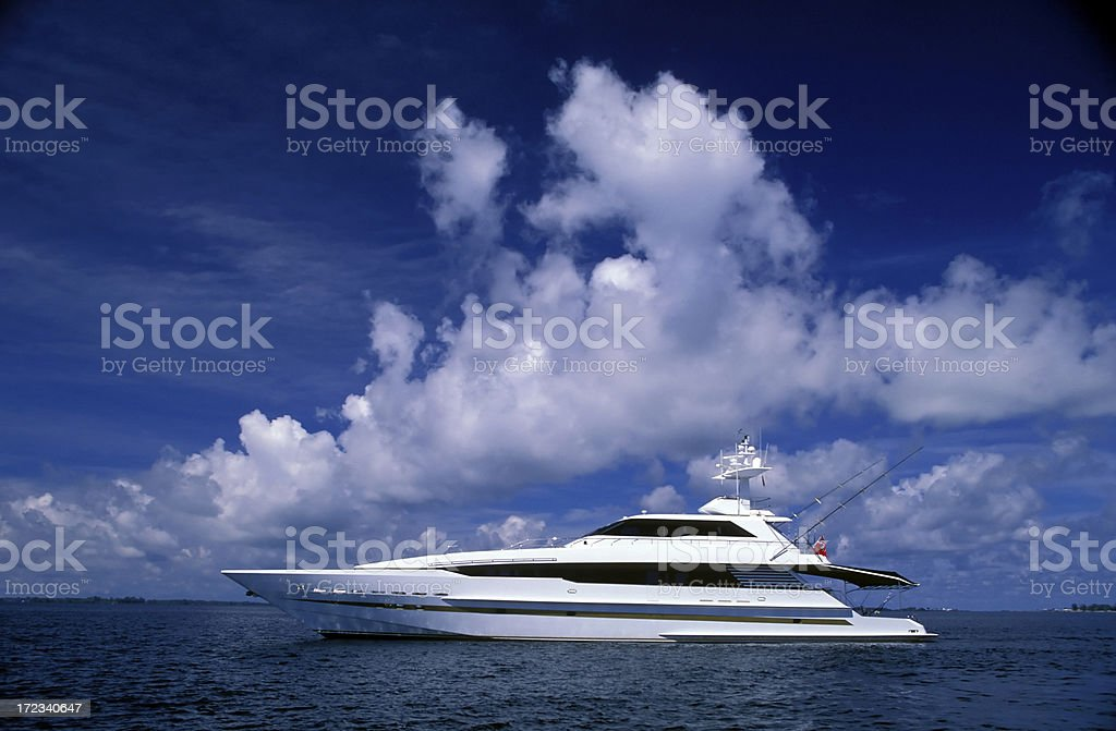 luxury motor yacht royalty-free stock photo