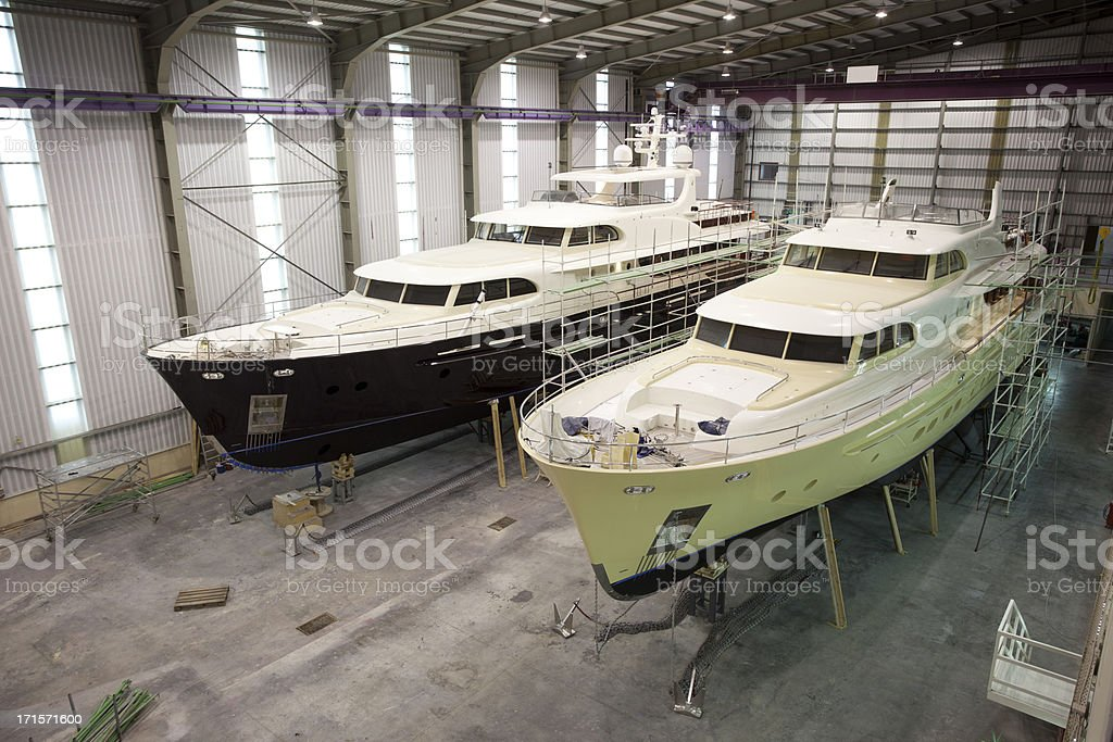 Luxury motor yachts product royalty-free stock photo
