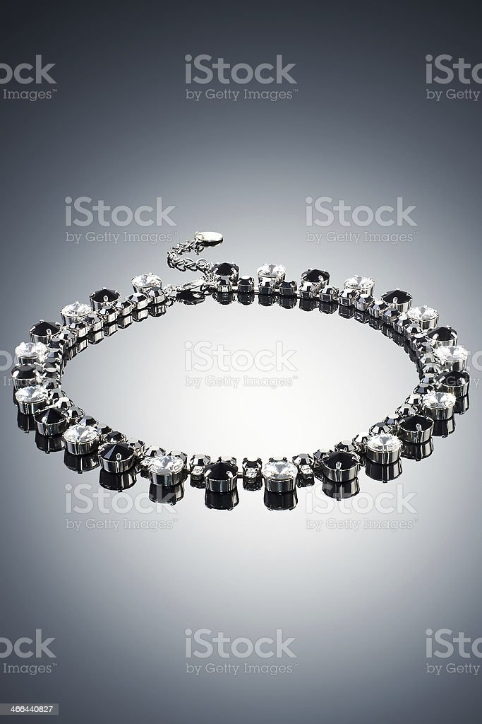 Luxury necklace on a dark background royalty-free stock photo