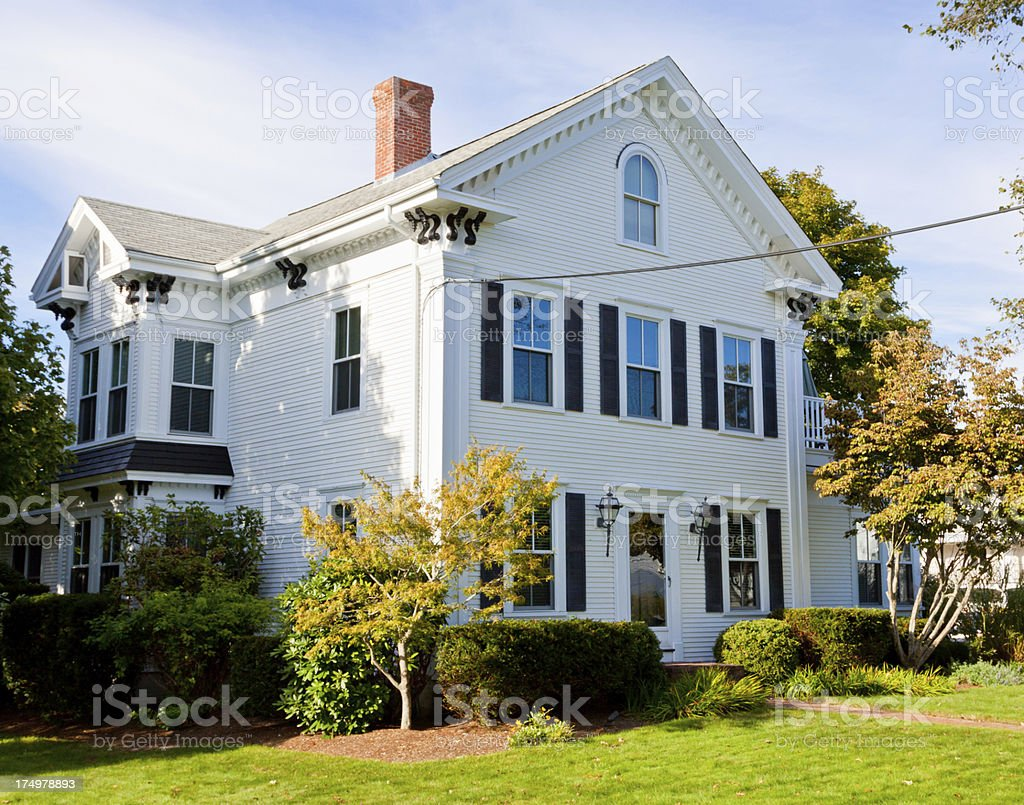 Luxury New England House, Hyannis Cape Cod, Massachusetts, USA. royalty-free stock photo