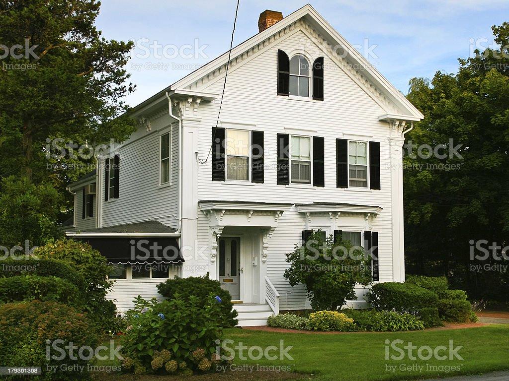 Luxury New England House, Hyannis, Cape Cod, Massachusetts, USA, royalty-free stock photo