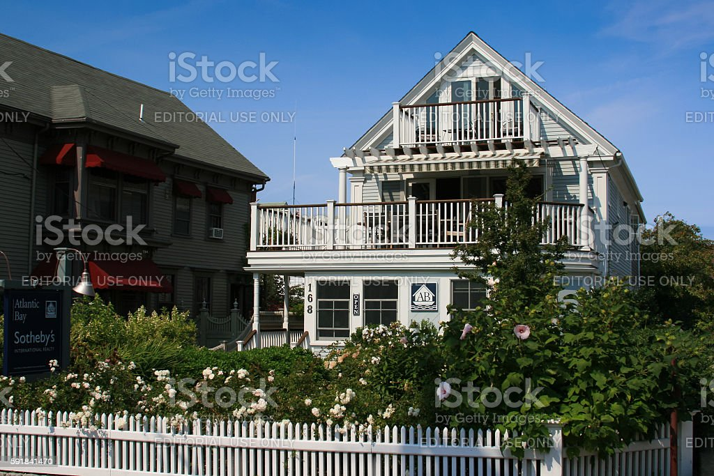 Luxury New England House, Provincetown, Cape Cod, Massachusetts, USA. stock photo
