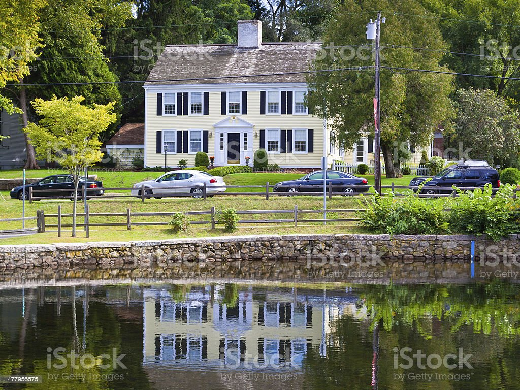 Luxury New England House, Sandwich, Cape Cod, Massachusetts, USA. royalty-free stock photo