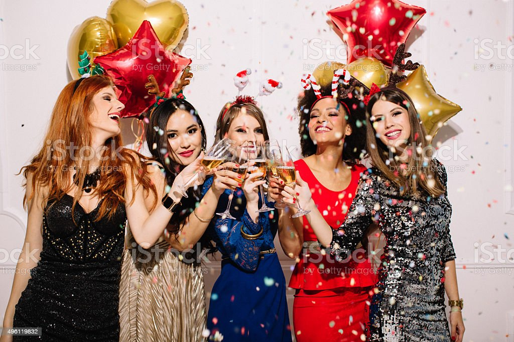 Luxury  New Year's party. stock photo