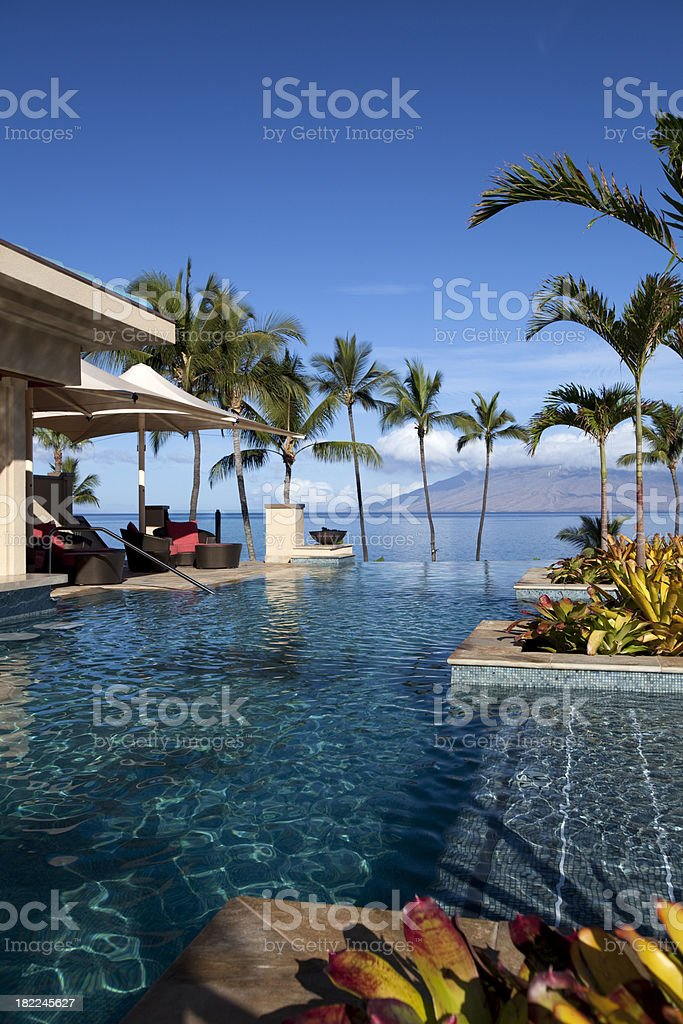 Luxury Oceanside Infinite Pool royalty-free stock photo