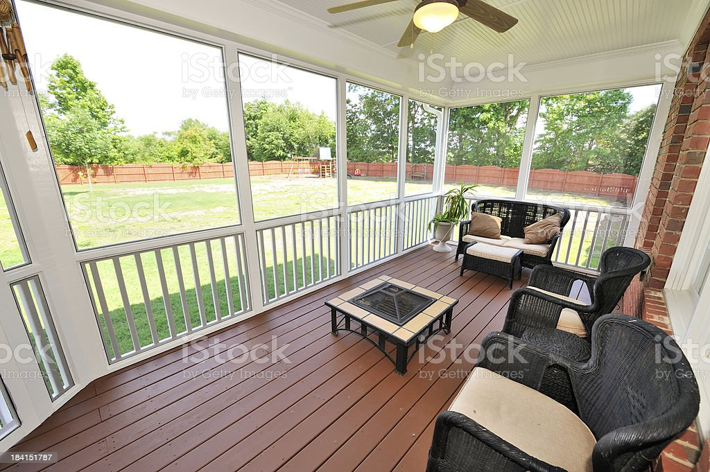 Luxury Patio stock photo