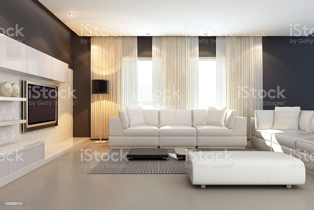Luxury Penthouse Interior royalty-free stock photo