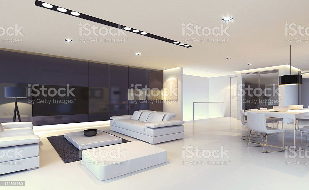 Luxury Penthouse Night scene royalty-free stock photo