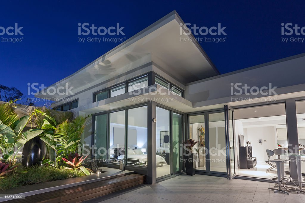Luxury penthouse stock photo