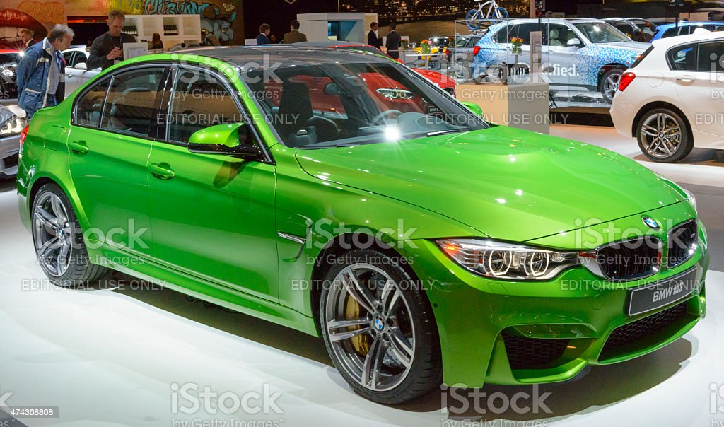 BMW M3 luxury performance sedan stock photo