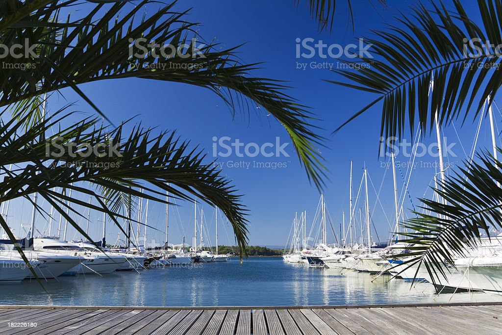 luxury port royalty-free stock photo