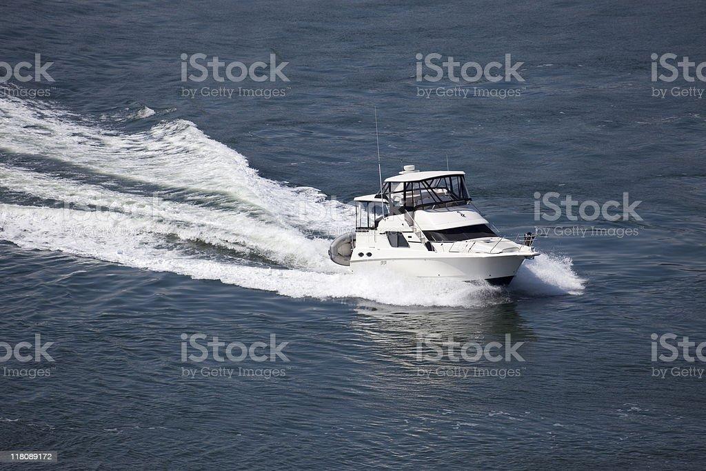 Luxury Powerboat stock photo