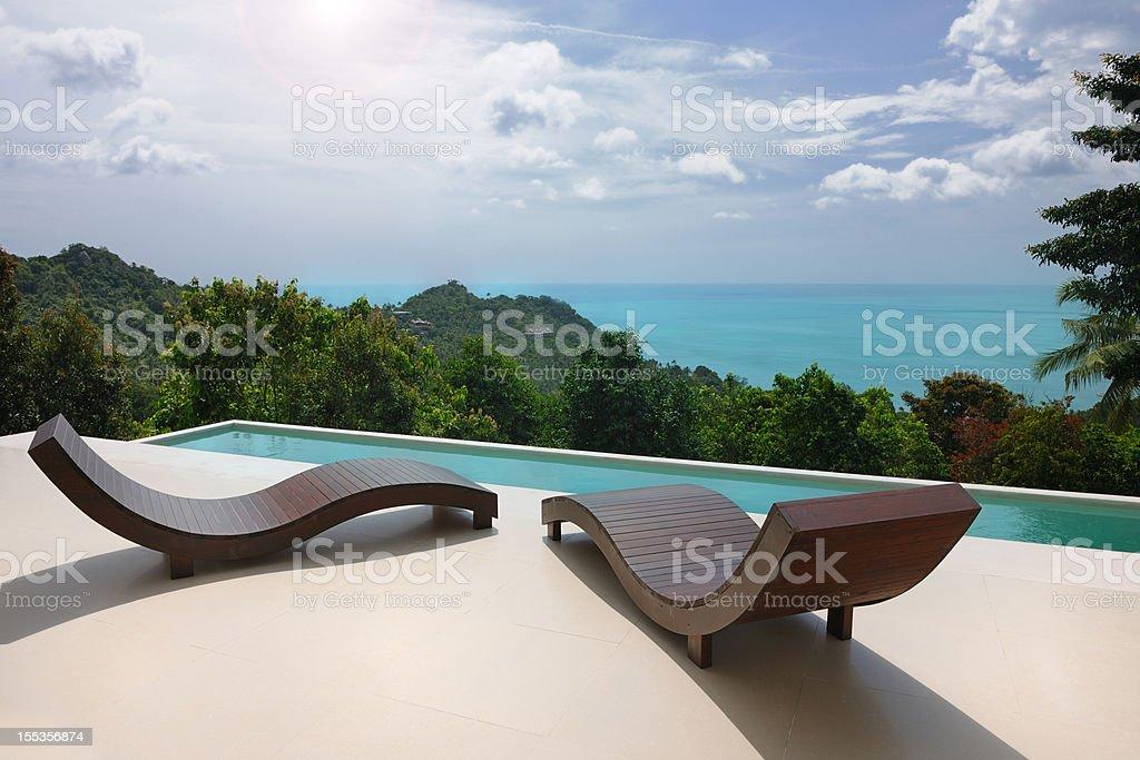 Luxury Private Pool Villa (XXXL) stock photo