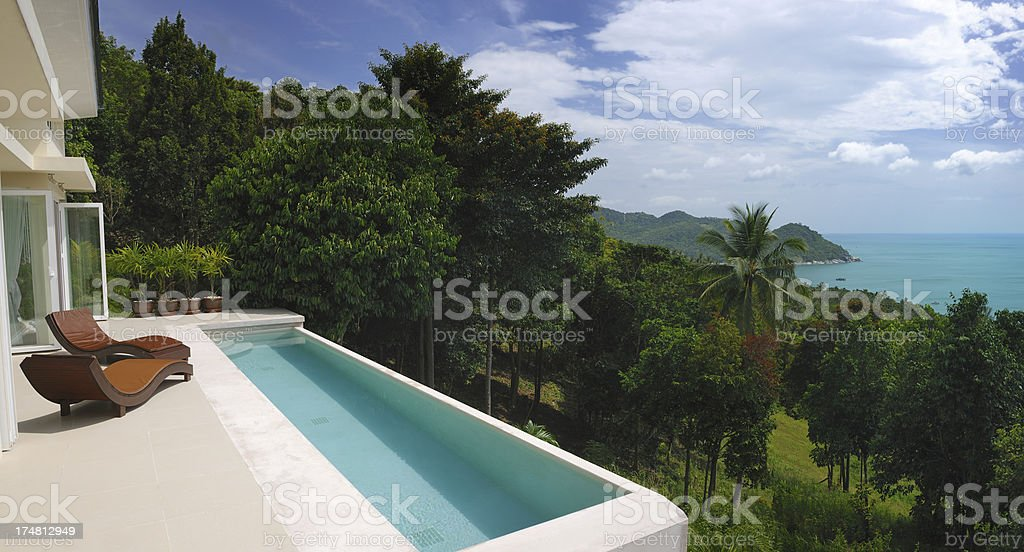 Luxury Private Pool Villa royalty-free stock photo