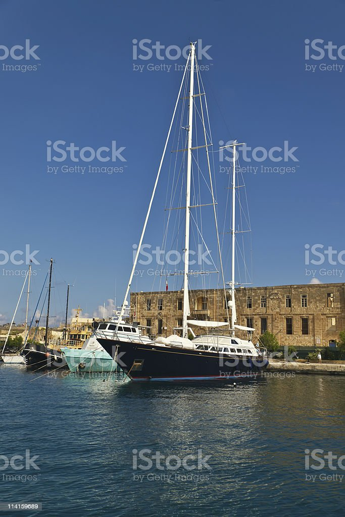 Luxury private yacht royalty-free stock photo