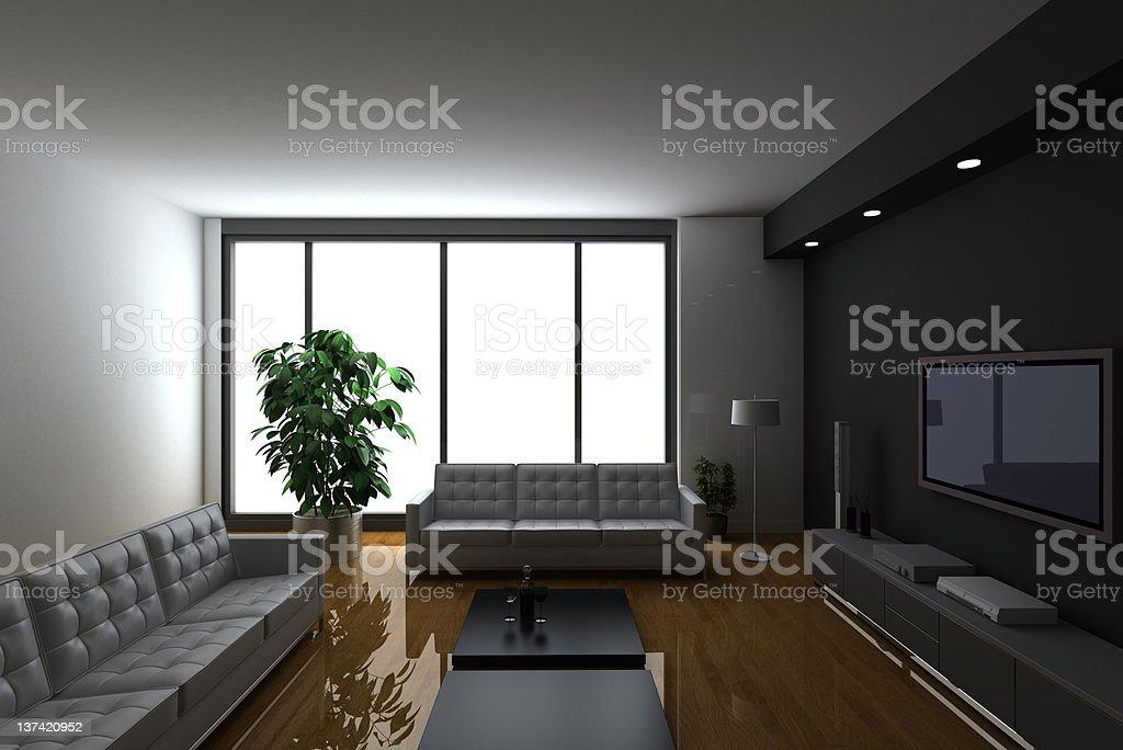 Luxury real estate condo interiors stock photo