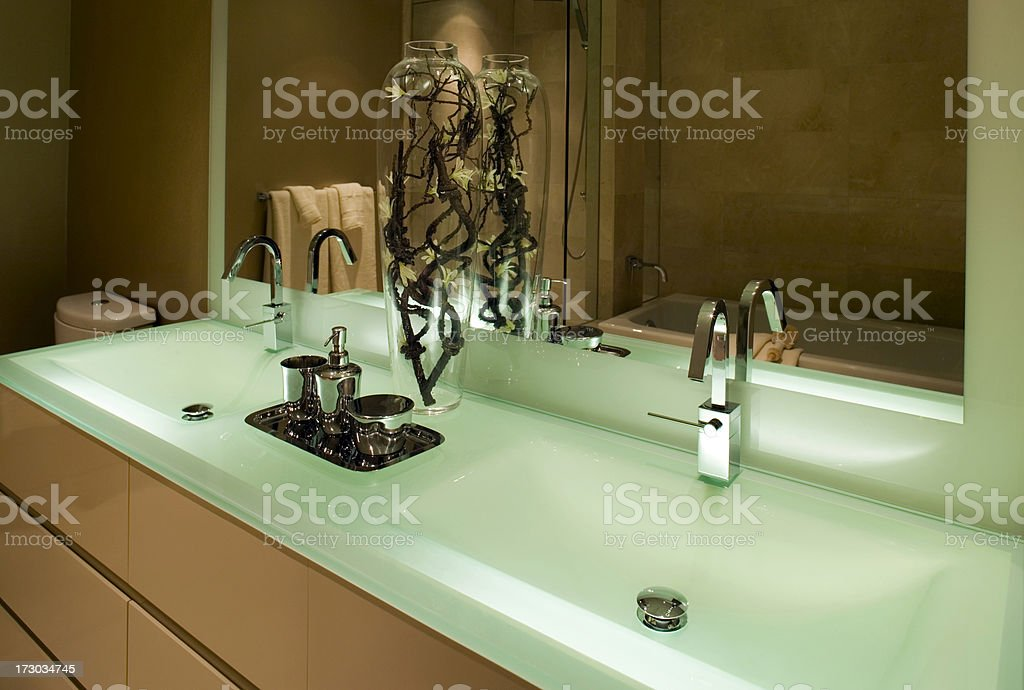 luxury real estate washroom basin royalty-free stock photo