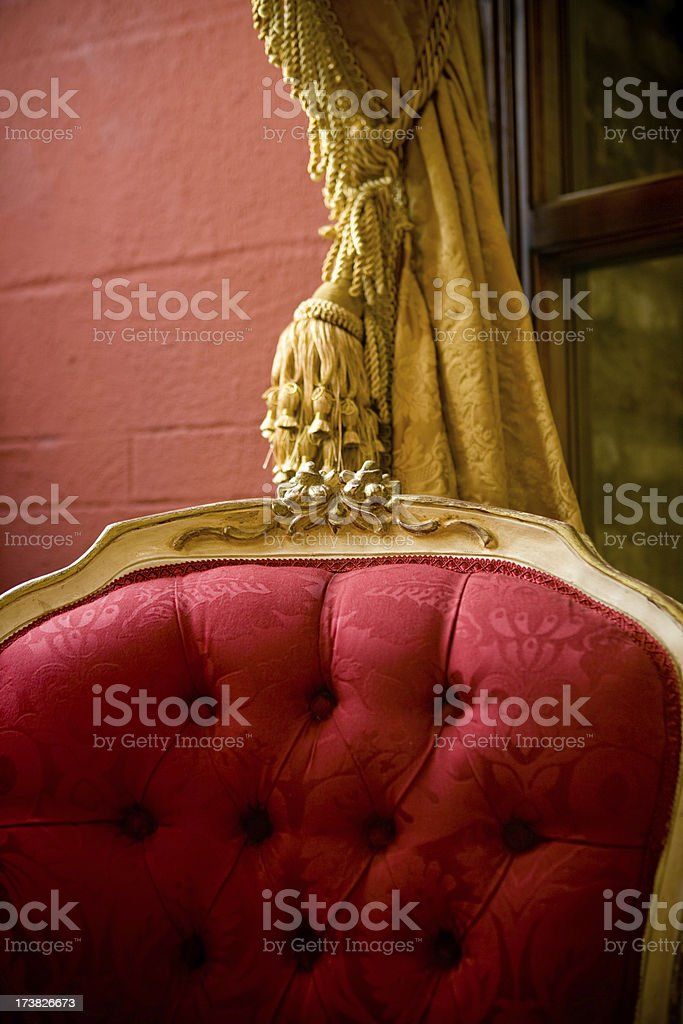 Luxury red chair detail royalty-free stock photo