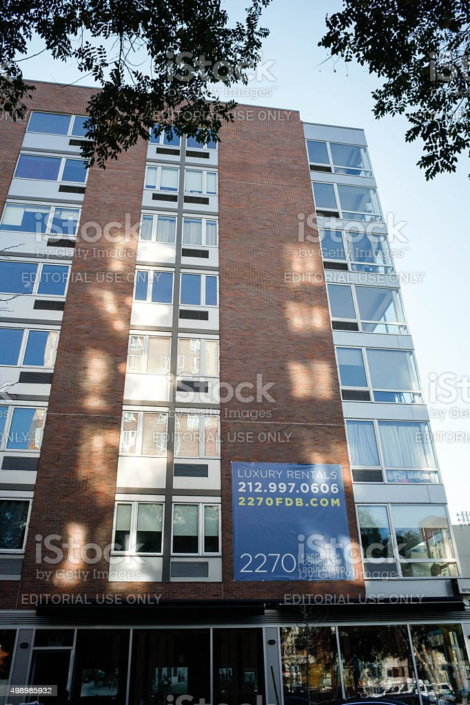 Luxury Rentals in Harlem. 2270 Frederick Douglass Boulevard, stock photo