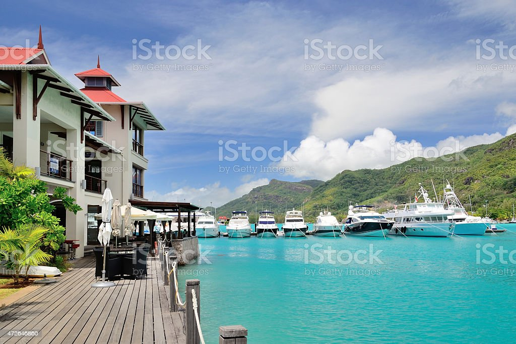 Luxury residency and marina. stock photo