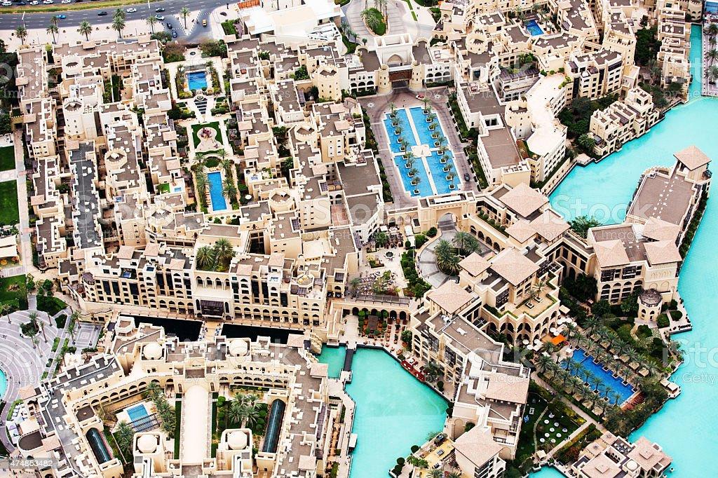 Luxury Residential district in Dubai stock photo