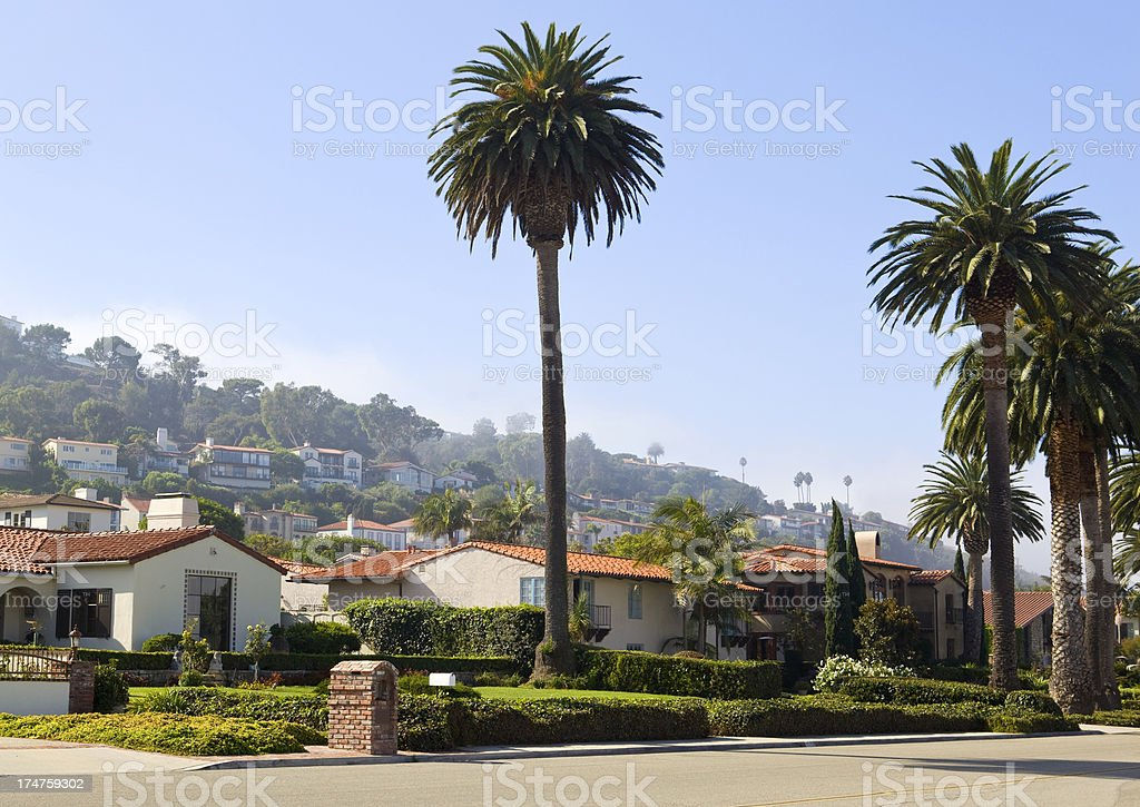 Luxury residential suburbs stock photo