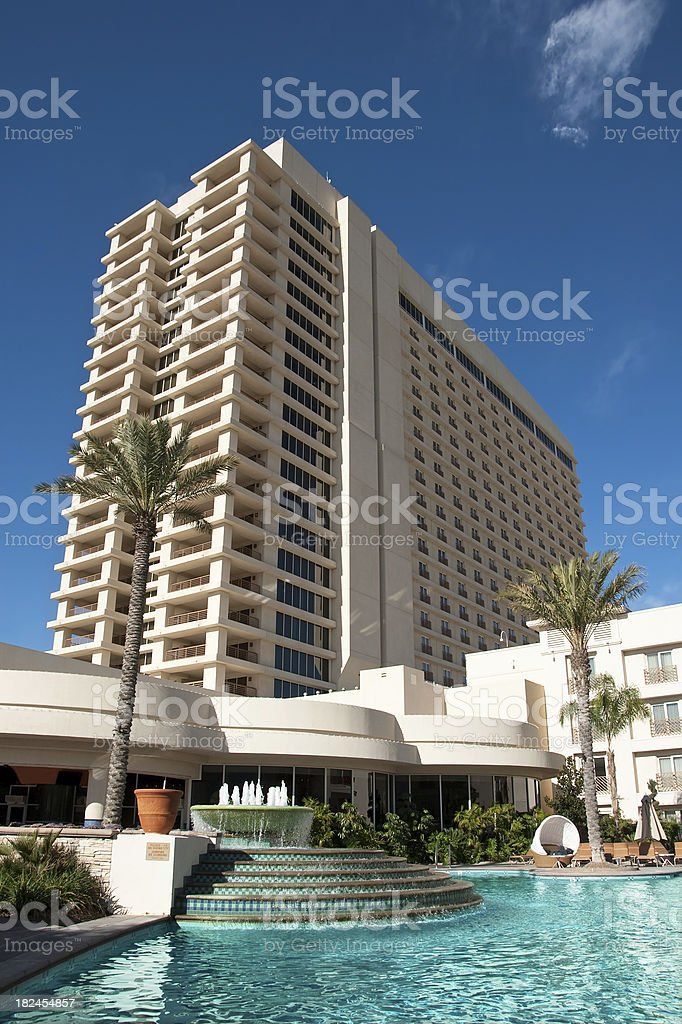Luxury Resort Hotel with Pool royalty-free stock photo