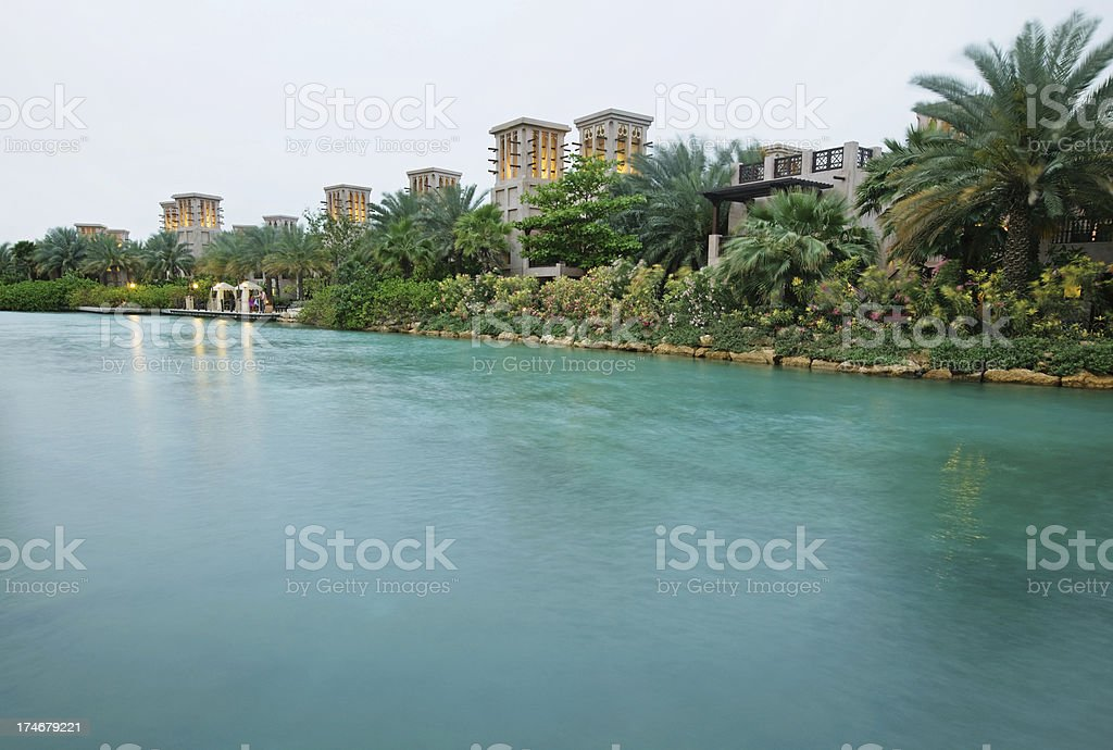 luxury resort in Dubai royalty-free stock photo