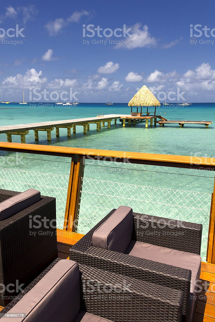 Luxury resort in Polynesia royalty-free stock photo