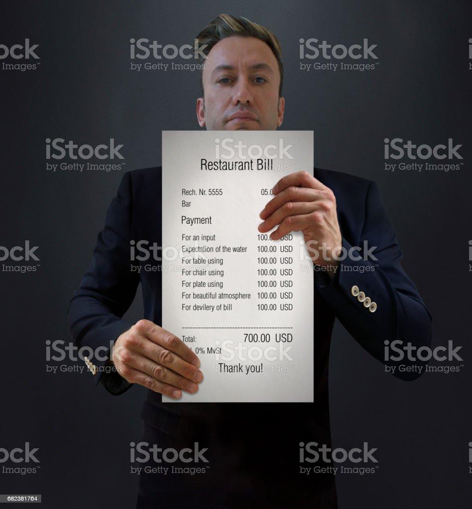 Luxury Restaurant Bill stock photo