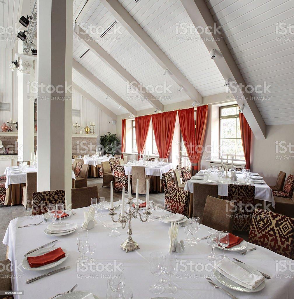 luxury restaurant in european style royalty-free stock photo