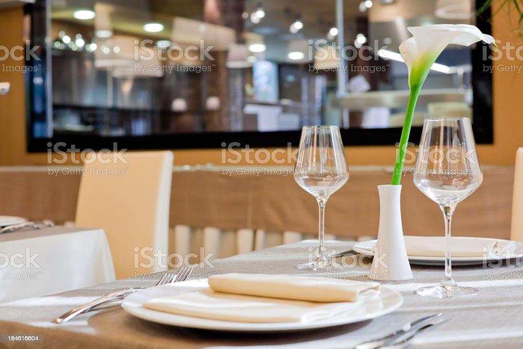 Luxury Restaurant Table royalty-free stock photo