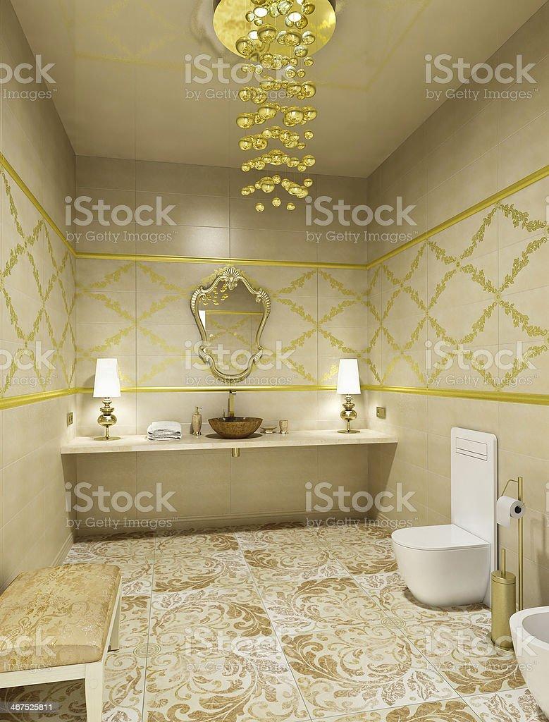 Luxury restroom interior royalty-free stock photo