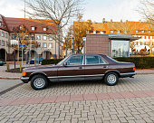 Luxury retro armored Mercedes-Benz S Klass car