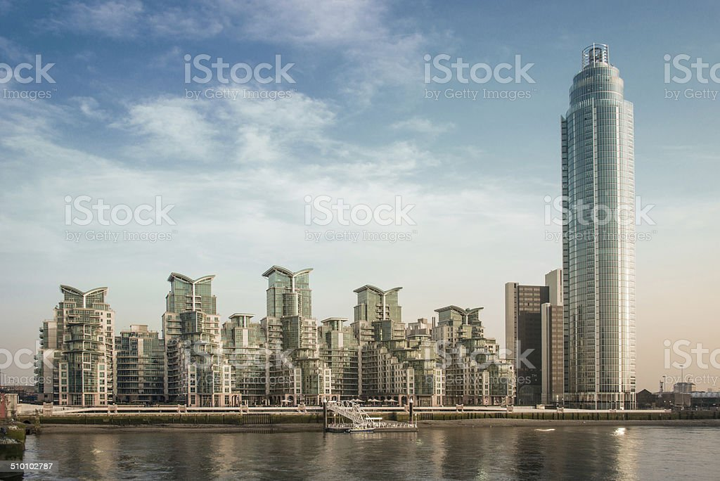 Luxury Riverside Appartments stock photo