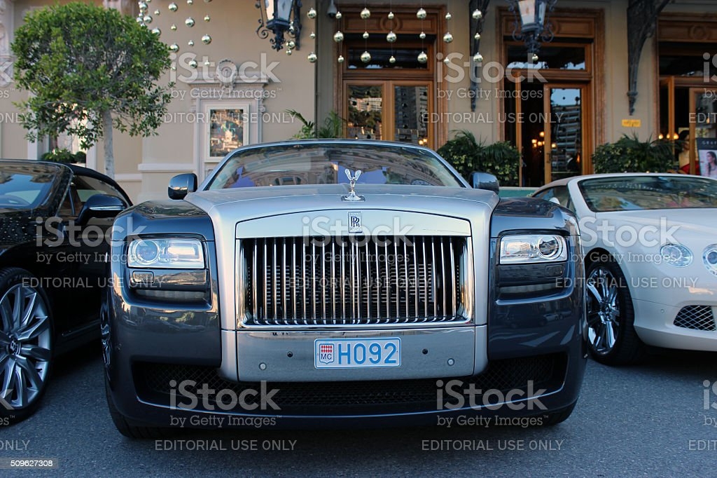 Luxury Rolls Royce Phantom in Monaco stock photo