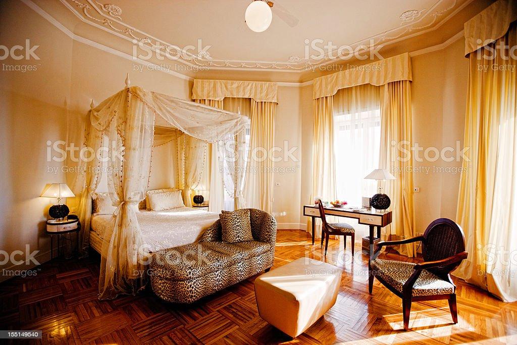 Luxury Romantic Hotel Suite royalty-free stock photo