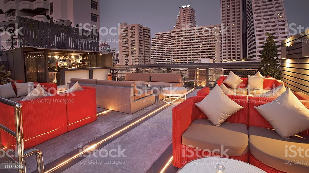Luxury Rooftop Bar stock photo