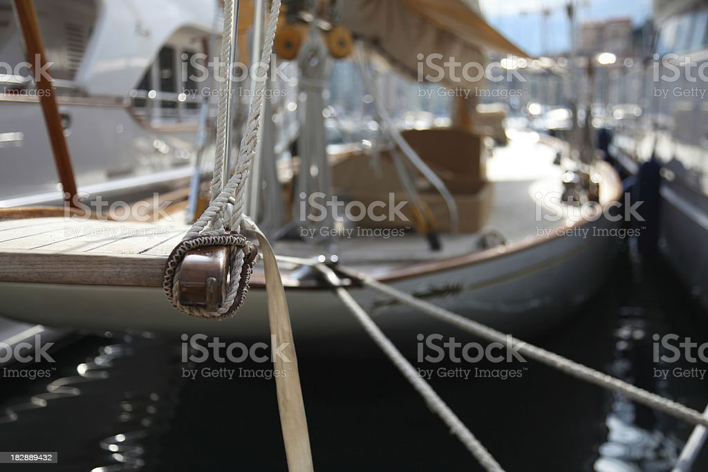 Luxury sail boat royalty-free stock photo