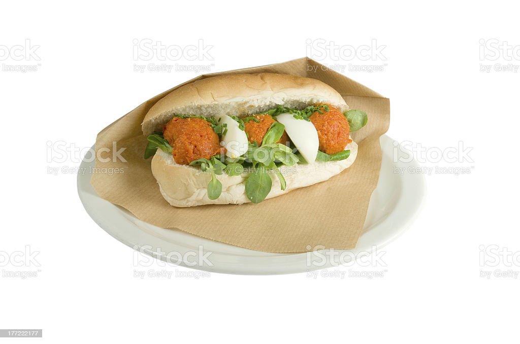 高級ステーキタルタルサンドイッチをご用意しております。 ロイヤリティフリーストックフォト