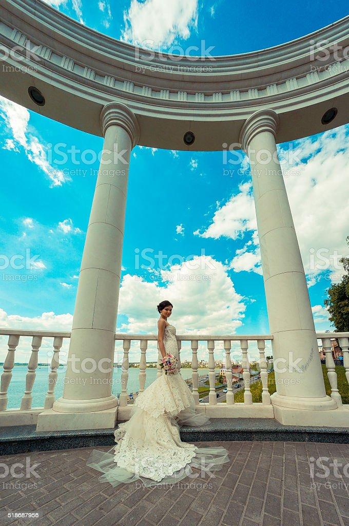 luxury sexy young bride stock photo